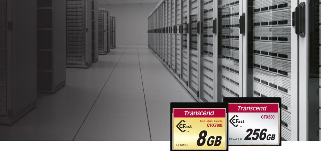 карти пам'яті промислового класу виробництва Transcend, тип CFast