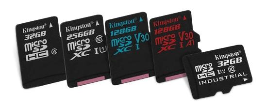 карти пам'яті microSD виробництва Kingston