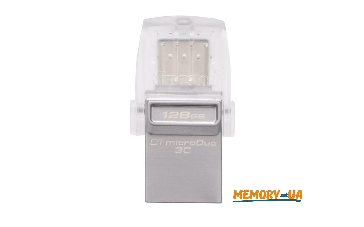 Флеш накопичувач Kingston DataTraveler microDuo 3C 128ГБ USB 3.1
