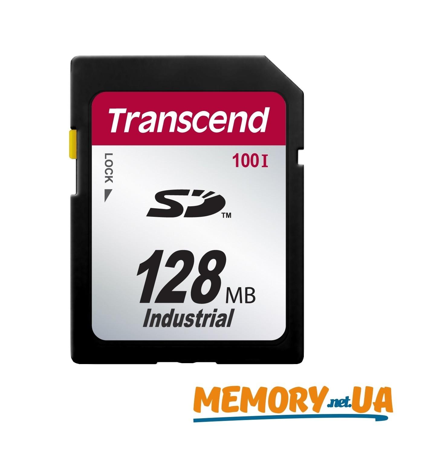 Картка пам'яті Transcend SD100I 128МБ 100X Class 10 SLC Промислового класу з широким діапазоном робочих температур (TS128MSD100I)