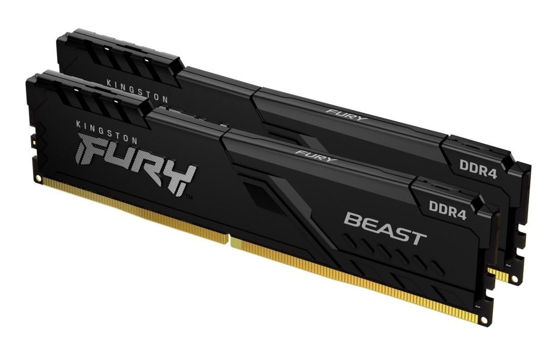Оперативна пам'ять Kingston FURY Beast 32ГБ DDR4 3600МГц CL18 1Rx8 DIMM Чорна - KF436C18BBK2/32