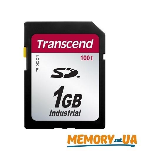 Картка пам'яті Transcend SD100I 1ГБ 100X Class 10 SLC Промислового класу з широким діапазоном робочих температур (TS1GSD100I)