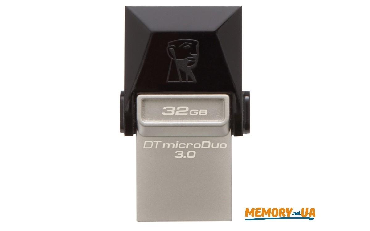 Флеш накопичувач Kingston DataTraveler MicroDuo 32ГБ USB 3.0 + microUSB (Android/OTG)