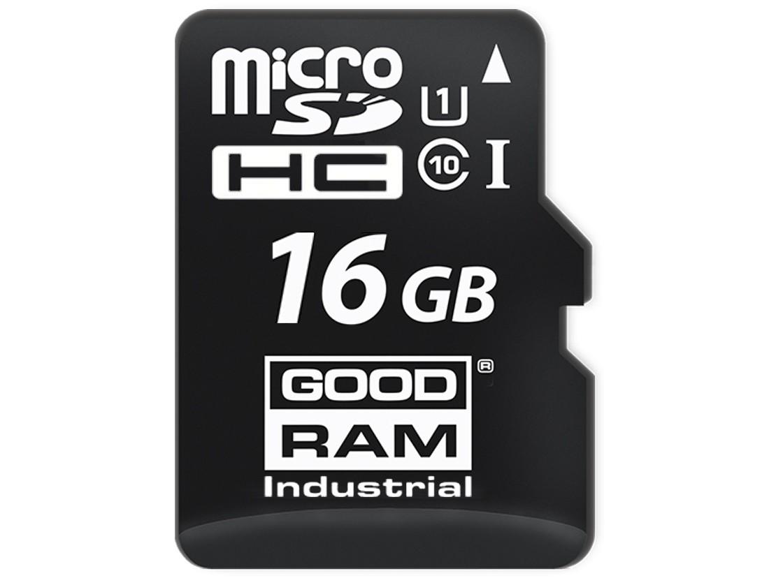 Картка пам'яті microSD GOODRAM 16ГБ MLC -25°C~85°C (SDU16GGMGRB)