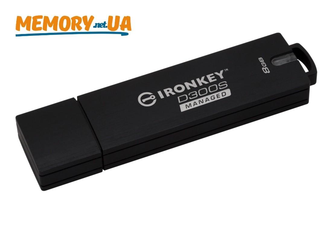 Флеш накопичувач з апаратним шифруванням і віддаленим керуванням Kingston IronKey D300SM 8ГБ USB 3.1 (IKD300SM/8GB)