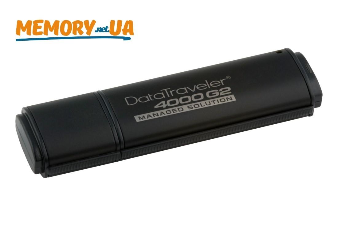 Флеш накопичувач з апаратним шифруванням і віддаленим керуванням Kingston DataTraveler 4000G2