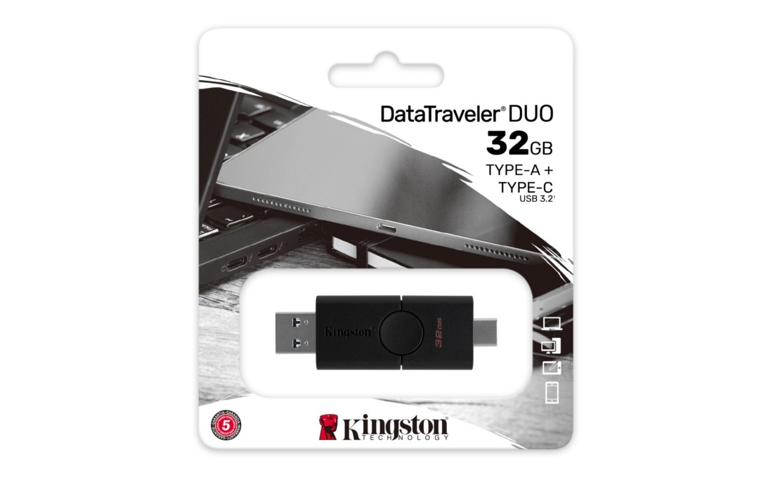 Флеш-накопичувач Kingston DataTraveler Duo 32ГБ - DTDE/32GB