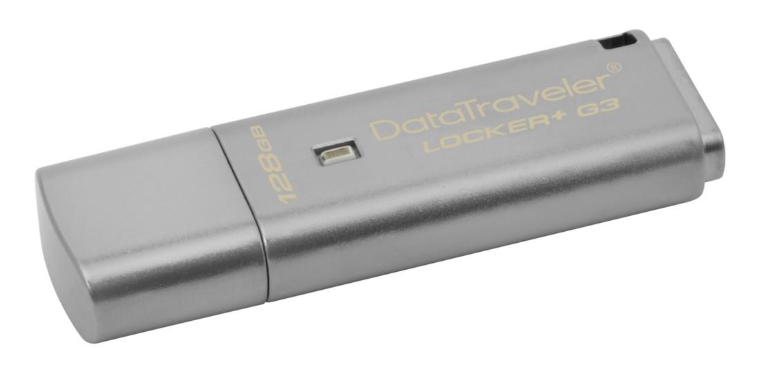 Флеш-накопичувач з шифруванням Kingston DataTraveler Locker Plus G3 128ГБ - DTLPG3/128GB