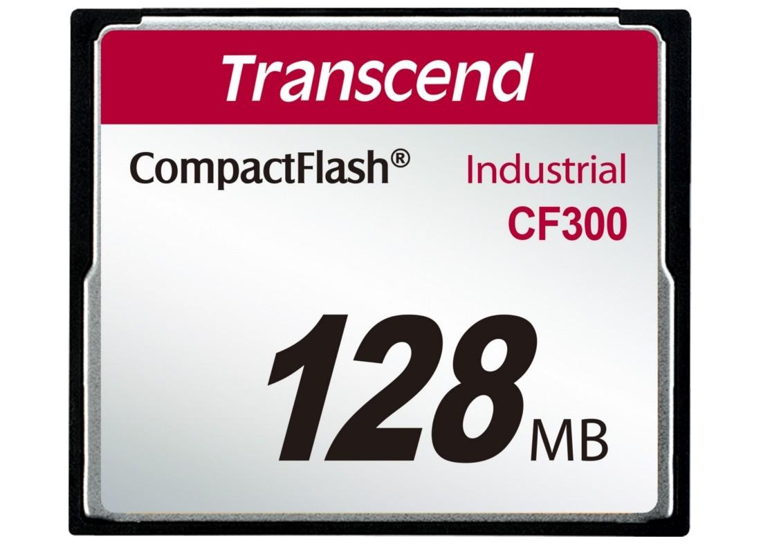 Картка пам'яті Transcend CF300 128МБ CF 300X SLC Промислового класу (TS128MCF300)