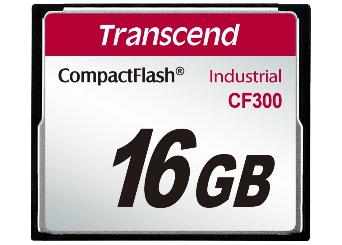 Картка пам'яті Transcend CF300 16ГБ 300X SLC Промислового класу (TS16GCF300)