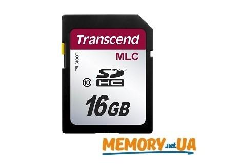 Картка пам'яті Transcend 16ГБ SDHC Class 10 21МБ/с 20МБ/с MLC Промислового класу (TS16GSDHC10M)