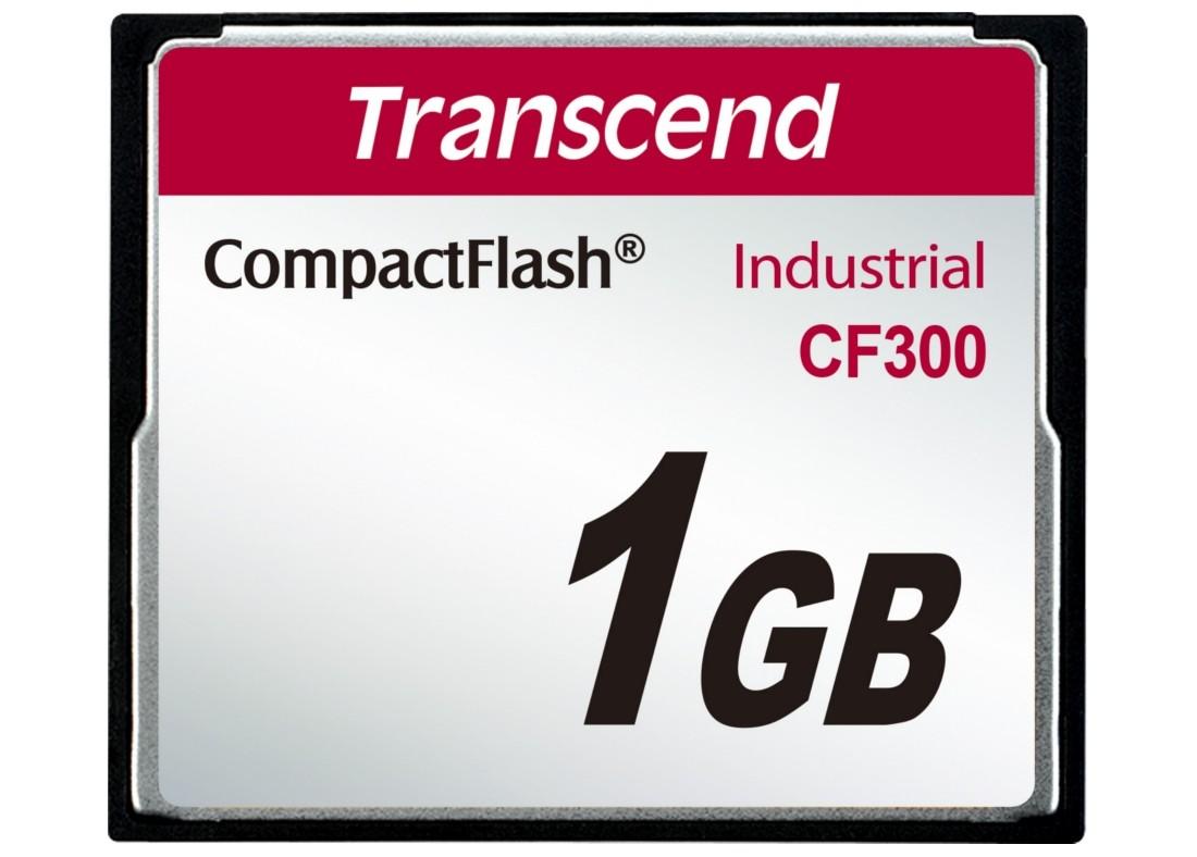 Картка пам'яті Transcend CF300 1ГБ CF 300X SLC Промислового класу (TS1GCF300)