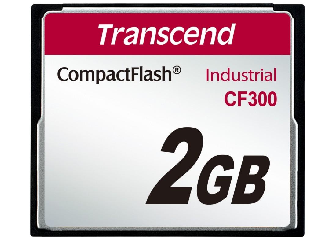 Картка пам'яті Transcend CF300 2ГБ CF 300X SLC Промислового класу (TS2GCF300)