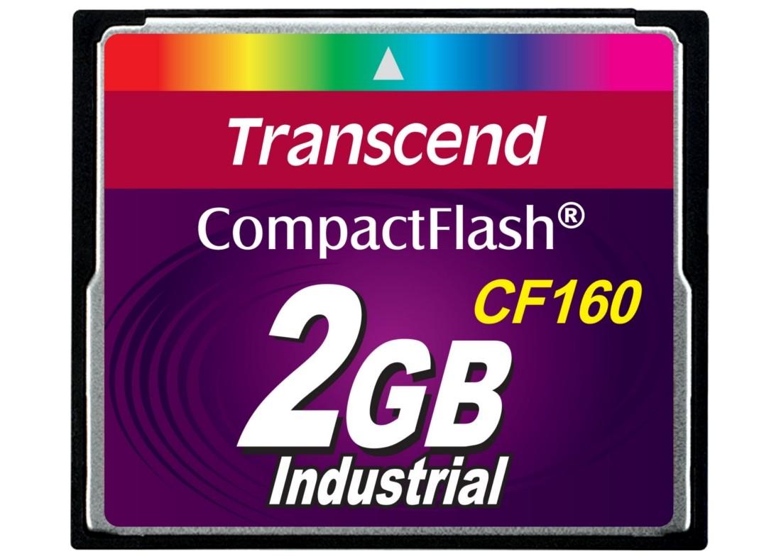 Картка пам'яті Transcend CF160 2ГБ 160X MLC Промислового класу (TS2GCF160)