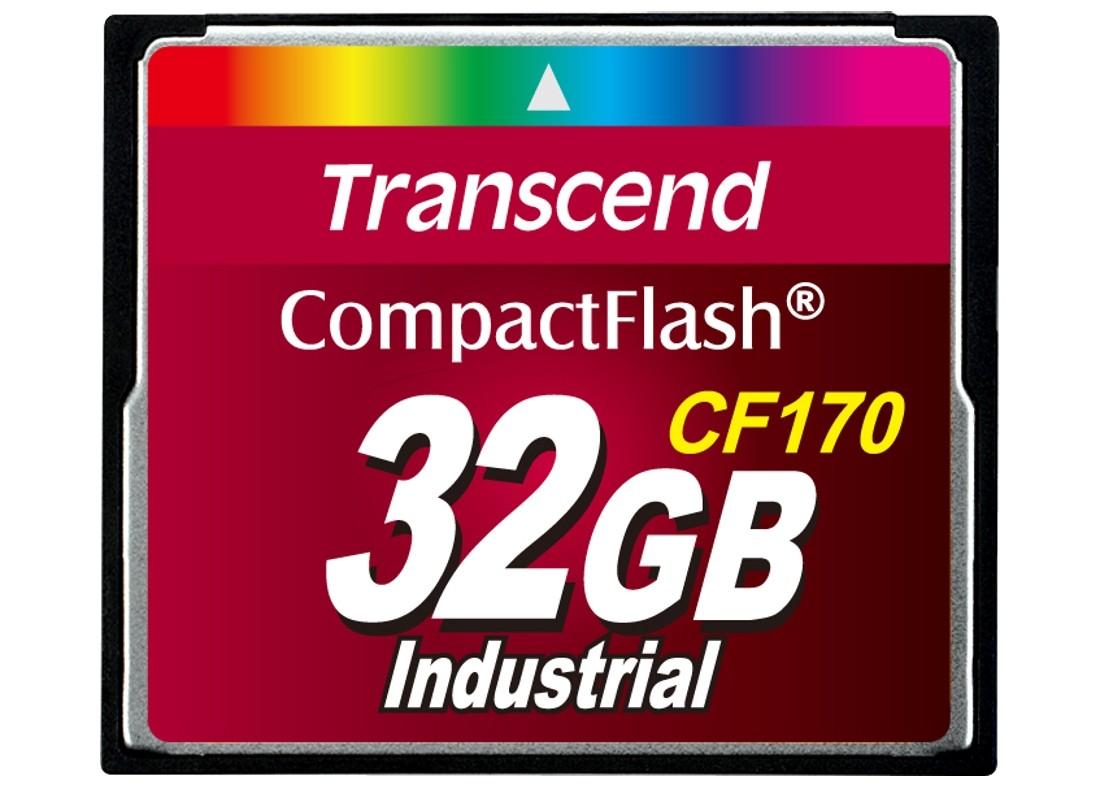 Картка пам'яті Transcend CF170 32ГБ 170X MLC Промислового класу (TS32GCF170)