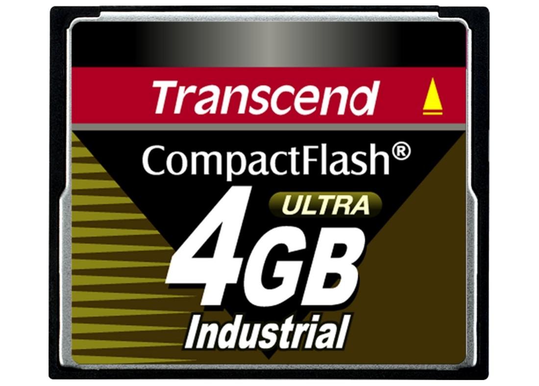 Картка пам'яті Transcend CF100I 4ГБ 100X SLC Промислового класу (TS4GCF100I)
