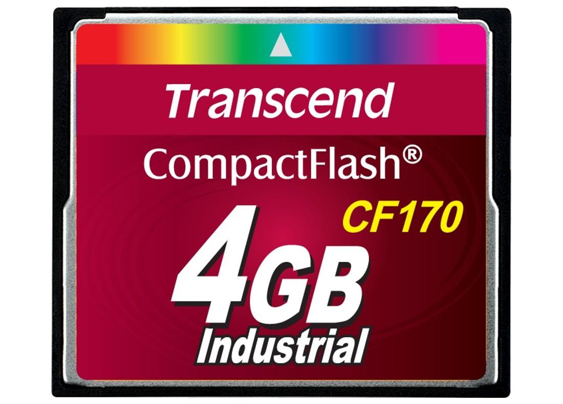 Картка пам'яті Transcend CF170 4ГБ 170X MLC Промислового класу (TS4GCF170)