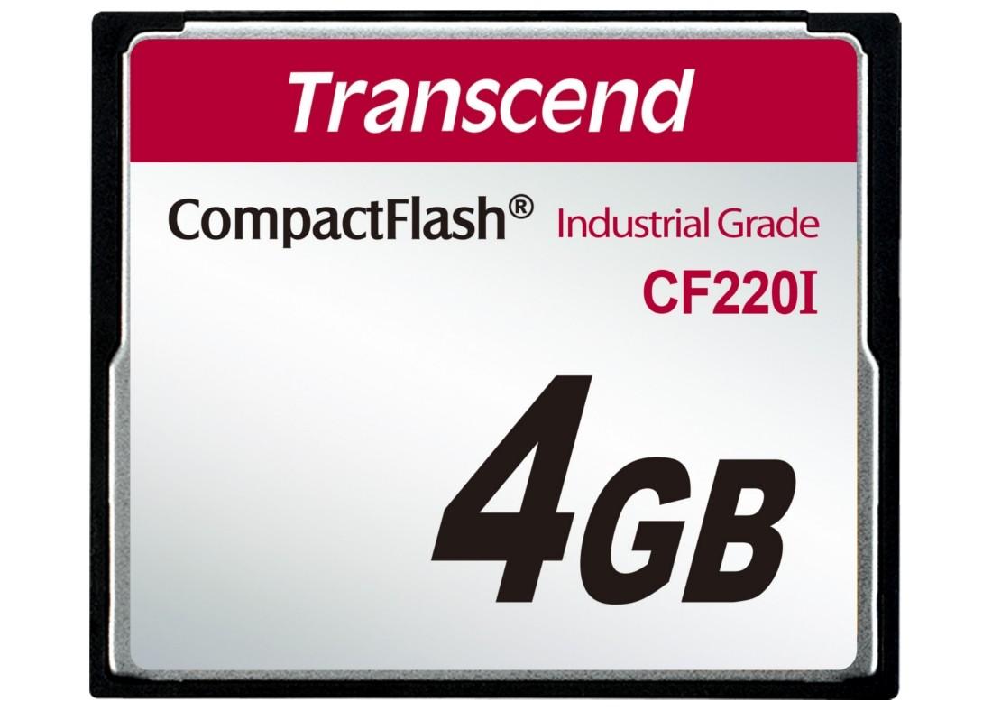 Картка пам'яті Transcend CF220I 4ГБ 220X SLC Промислового класу (TS4GCF220I)