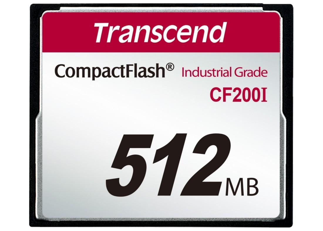 Картка пам'яті Transcend CF200I 512МБ 200X SLC Промислового класу (TS512MCF200I)