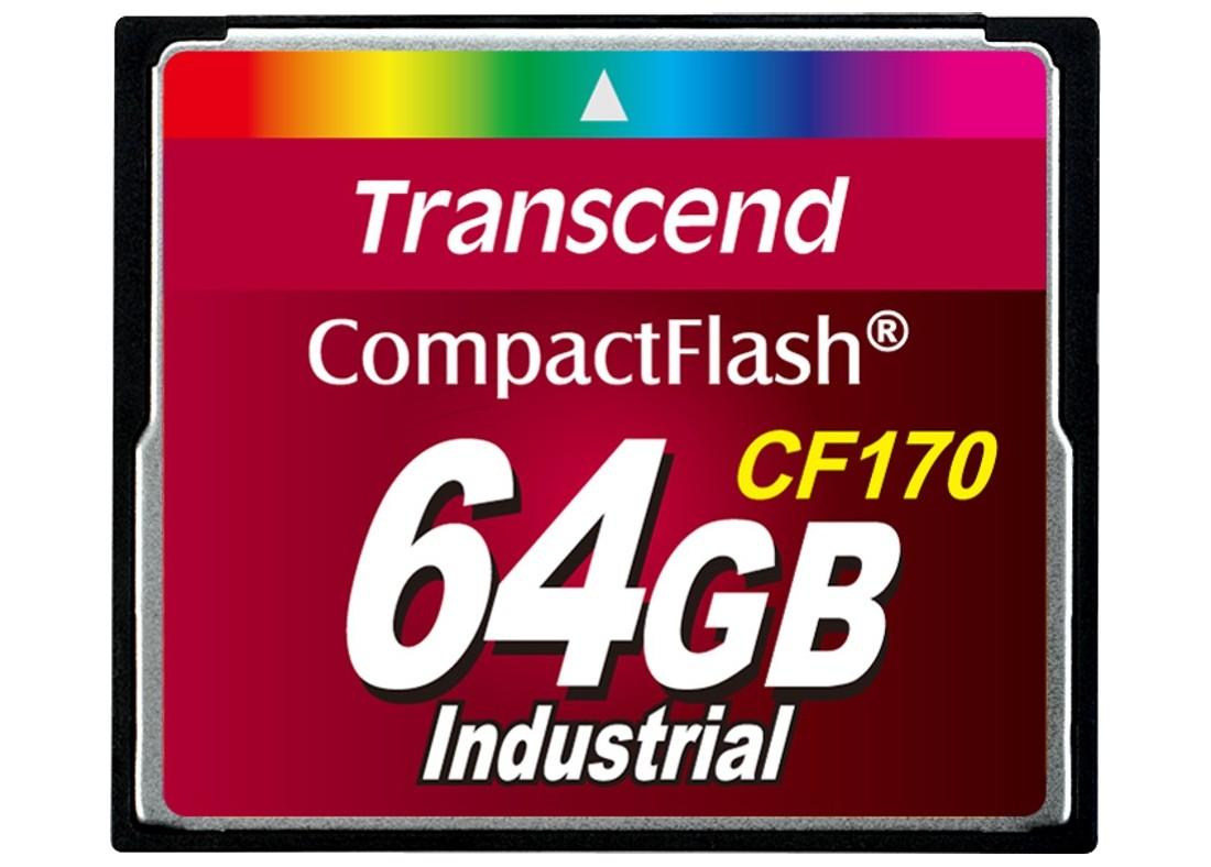 Картка пам'яті Transcend CF170 64ГБ 170X MLC Промислового класу (TS64GCF170)