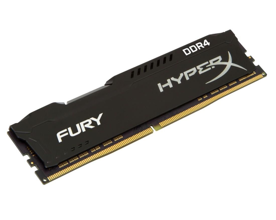 Оперативна пам'ять Kingston HyperX FURY 4ГБ DDR4 2666МГц CL16 DIMM Чорна (HX426C16FB3/4)