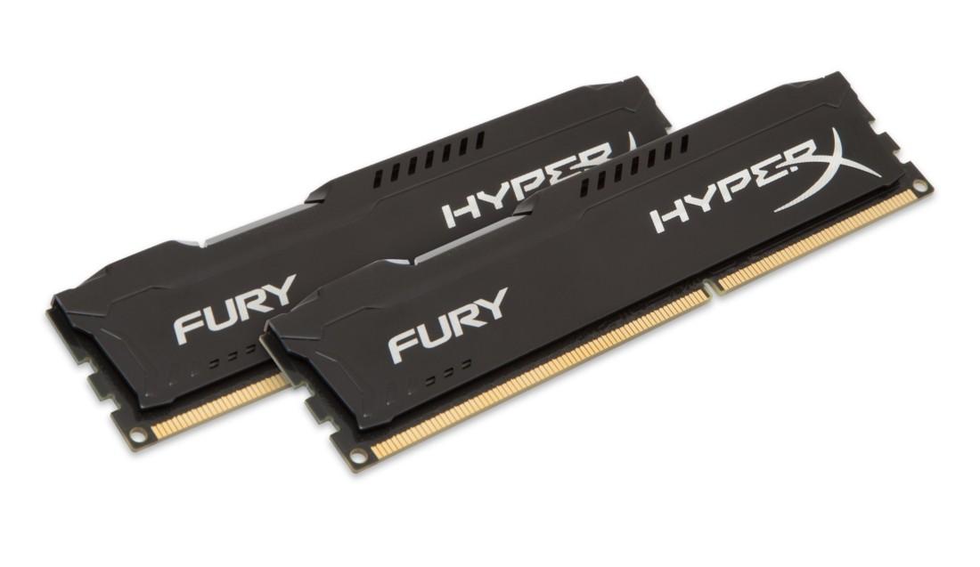 HyperX FURY Оперативна пам'ять 8GB DDR3L−1600MHz DIMM (HX316LC10FBK2/8)