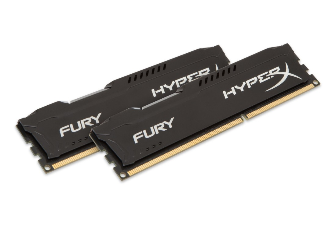 HyperX FURY Оперативна пам'ять 8GB DDR3−1600MHz DIMM (HX316C10FBK2/8)