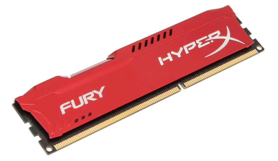 HyperX FURY Оперативна пам'ять 4GB DDR3−1600MHz DIMM (HX316C10FR/4)