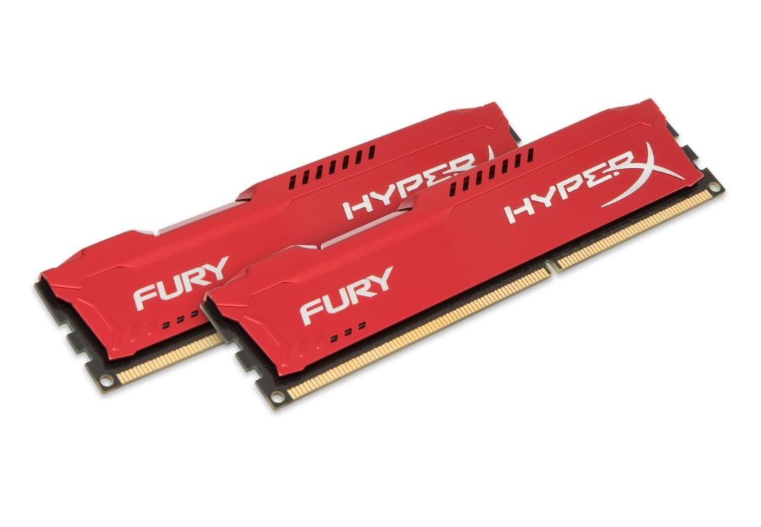 HyperX FURY Оперативна пам'ять 8GB DDR3−1600MHz DIMM (HX316C10FRK2/8)