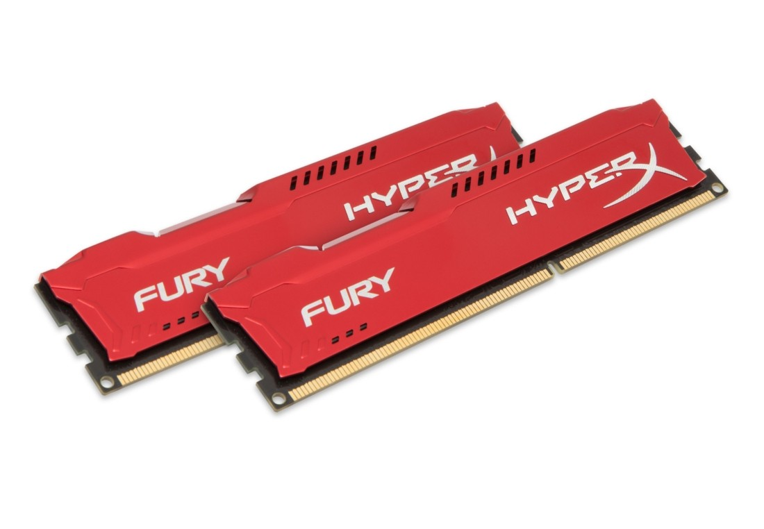 HyperX FURY Оперативна пам'ять 16GB DDR3−1600MHz DIMM (HX316C10FRK2/16)