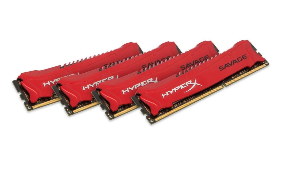 HyperX Savage Оперативна пам'ять 32GB DDR3−1600MHz DIMM (HX316C9SRK4/32)