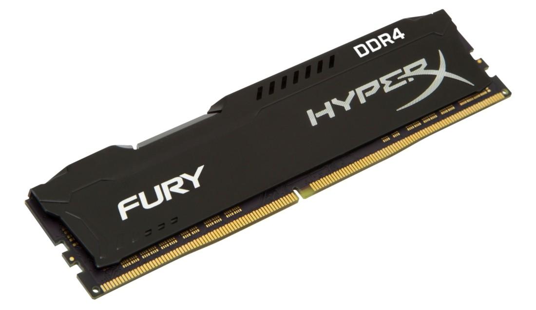 HyperX FURY Оперативна пам'ять 4GB DDR4−2400MHz DIMM (HX424C15FB/4)
