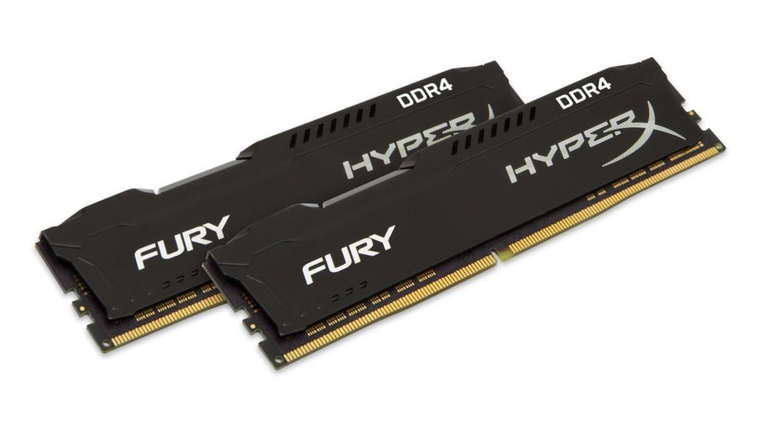 HyperX FURY Оперативна пам'ять 8GB DDR4−2400MHz DIMM (HX424C15FBK2/8)