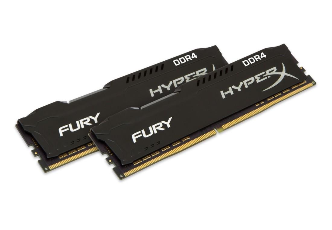 HyperX FURY Оперативна пам'ять 16GB DDR4−2400MHz DIMM (HX424C15FB2K2/16)