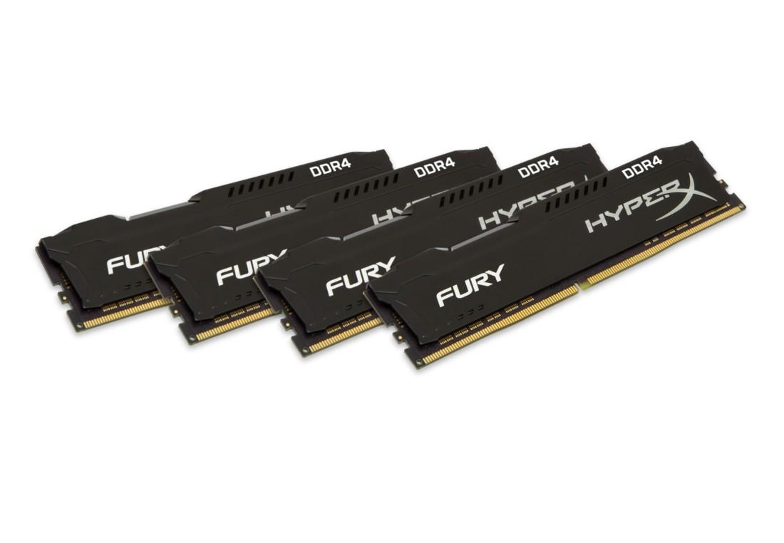 HyperX FURY Оперативна пам'ять 16GB DDR4−2400MHz DIMM (HX424C15FBK4/16)