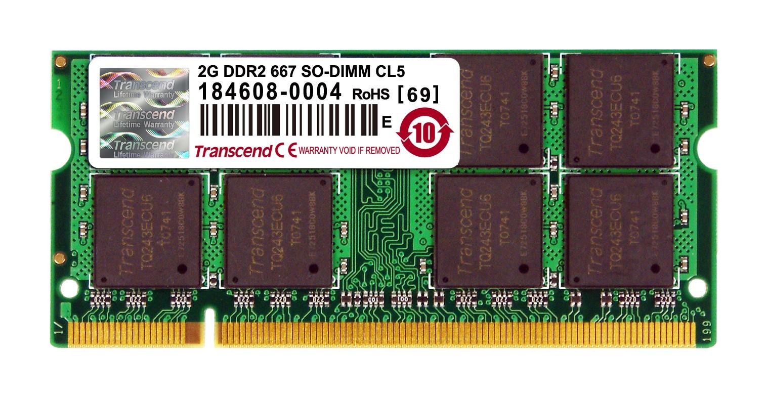 Оперативна пам'ять DDR2 SODIMM 2GB 667MHz (JM667QSU-2G)