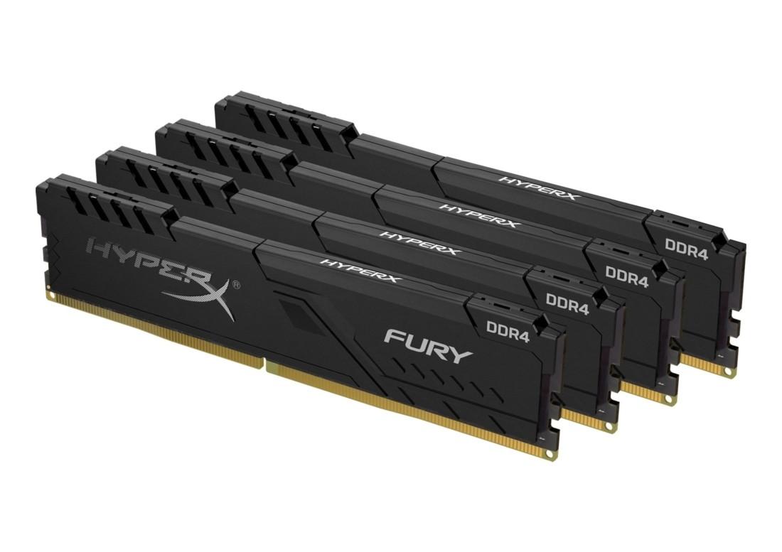 Комплект модулів оперативної пам'яті для ПК Kingston HyperX FURY 64ГБ (Комплект 4x16ГБ) DDR4 3600МГц CL17 DIMM (HX436C18FB4K4/64)