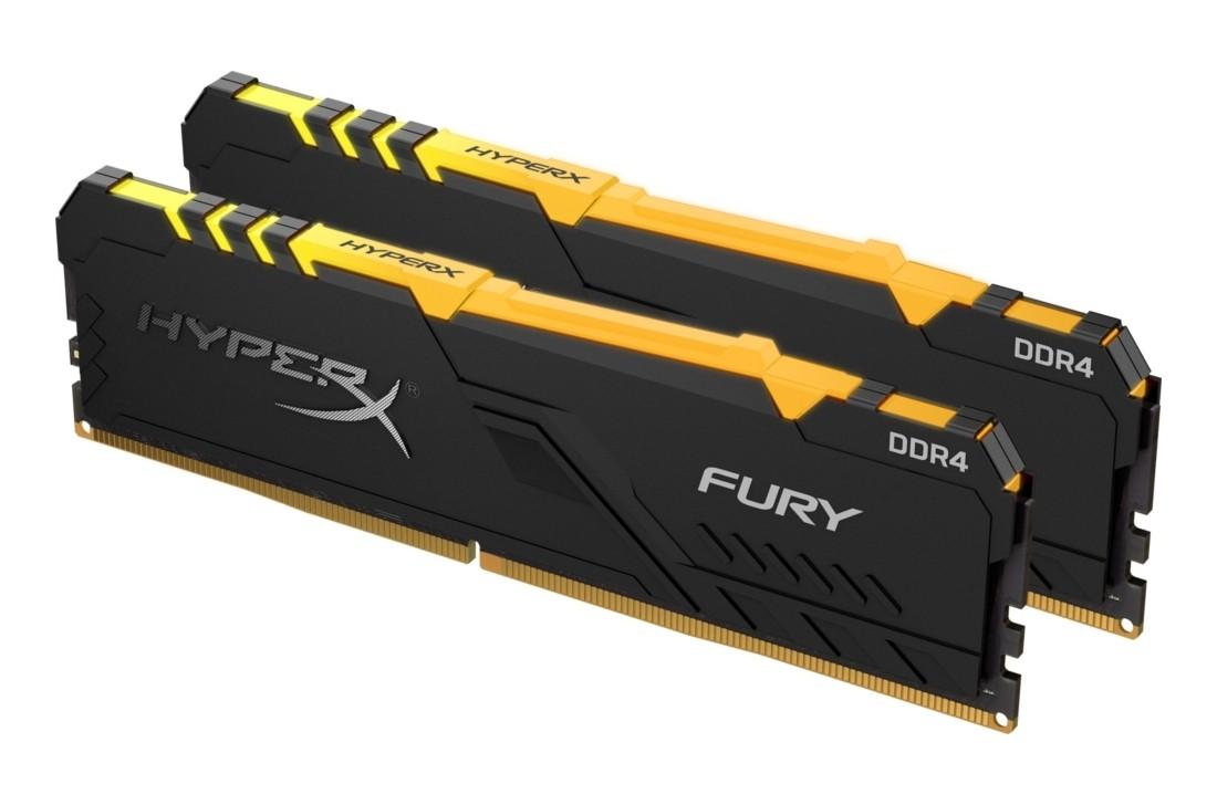 Комплект модулів оперативної пам'яті для ПК Kingston HyperX FURY RGB 32ГБ (Комплект 2x16ГБ) DDR4 3466МГц - HX434C17FB4AK2/32