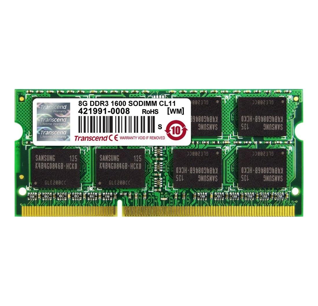 Оперативна пам'ять для ноутбуку DDR3 SODIMM 8ГБ 1600МГц Промислового класу (TS1GSK64W6H-I)
