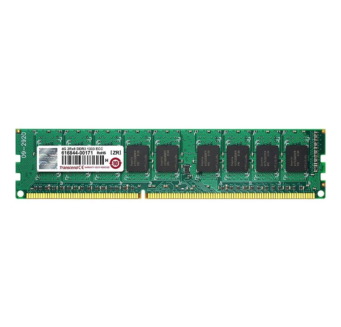 Модуль пам'яті для серверу Transcend Industrial 4GB 1333MHz DDR3 ECC CL9 DIMM 2Rx8 (TS512MLK72V3N-I)