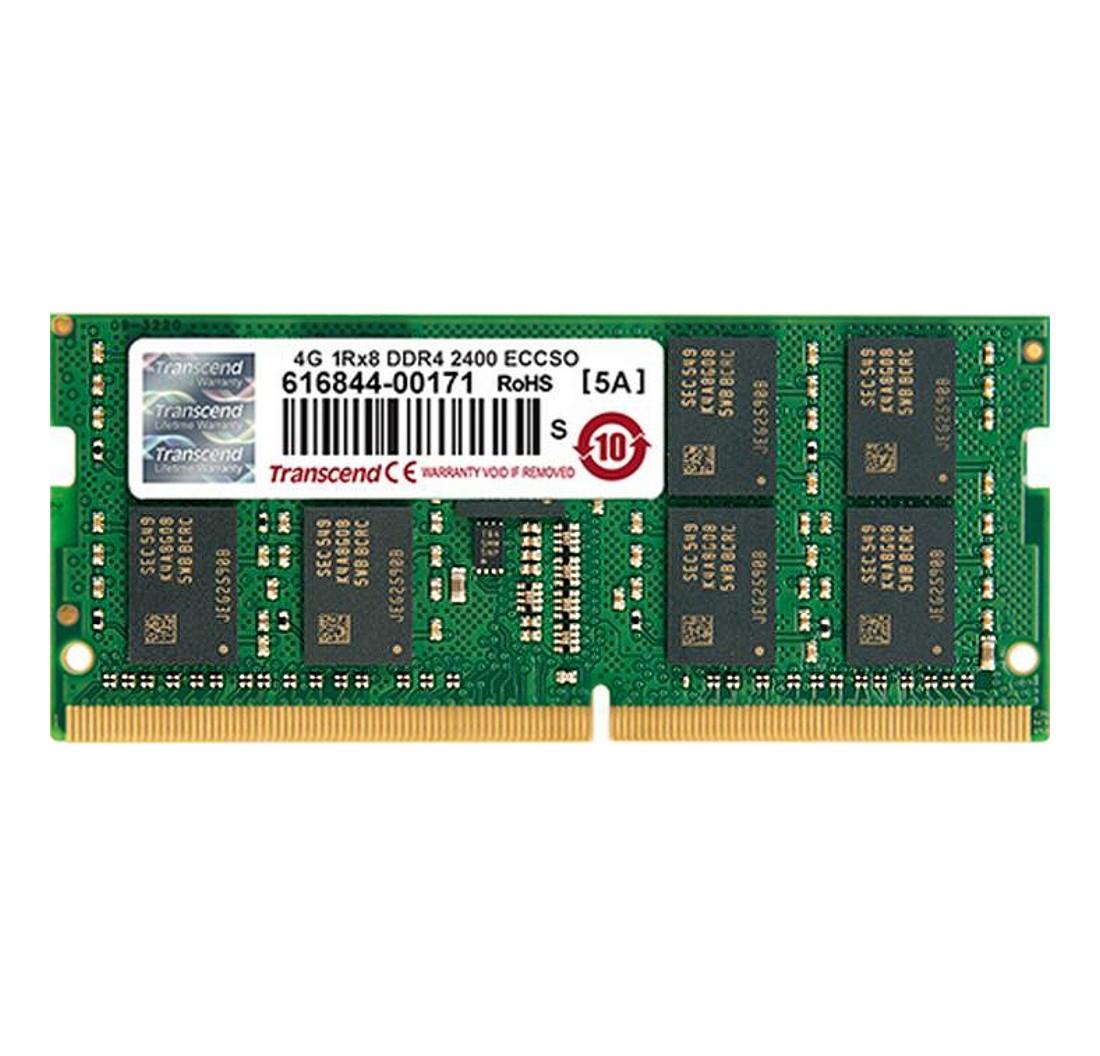 Модуль пам'яті для серверу Transcend 4GB 2400MHz DDR4 ECC CL17 SODIMM (TS512MSH72V4H)