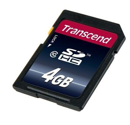 Картка пам'яті Transcend 4GB SDHC C10 R20MB/s (TS4GSDHC10)