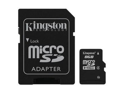 Картка пам'яті Kingston 8ГБ microSDHC (Class 4)