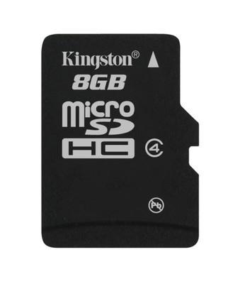 Картка пам'яті Kingston 8ГБ microSDHC (Class 4) без SD адаптера