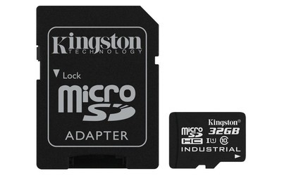 Картка пам'яті Kingston 32ГБ microSDHC Class 10 UHS-I Промислового класу з SD адаптером