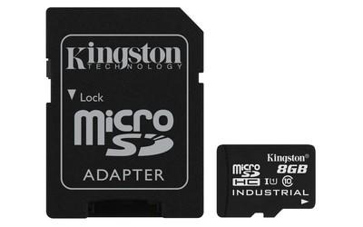 Картка пам'яті Kingston 8ГБ microSDHC Class 10 UHS-I Промислового класу з SD адаптером