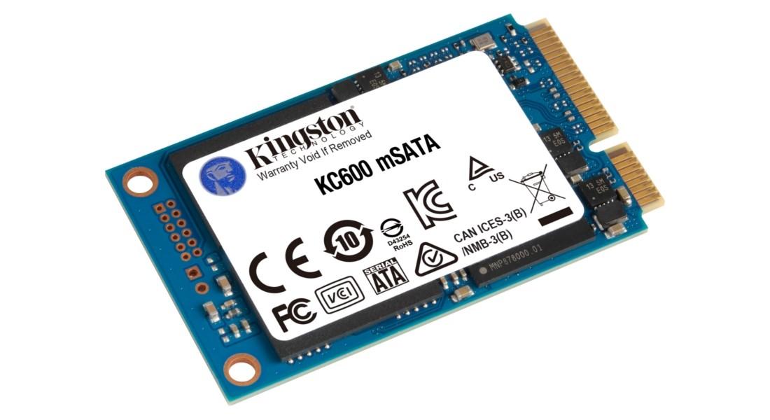 SSD накопичувач Kingston KC600MS 1024ГБ mSATA SATA III 3D NAND TLC - SKC600MS/1024G