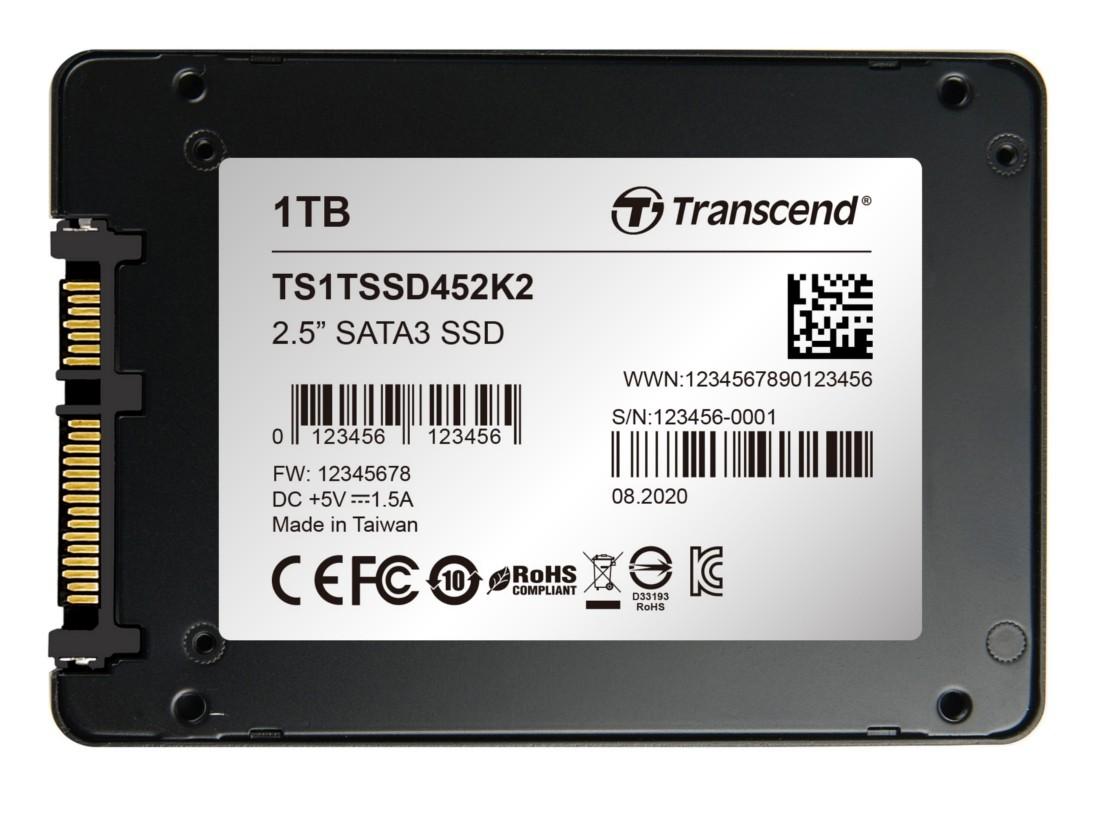 """SSD-накопичувач Transcend SSD452K2 1ТБ 2.5"""" SATA III - TS1TSSD452K2"""