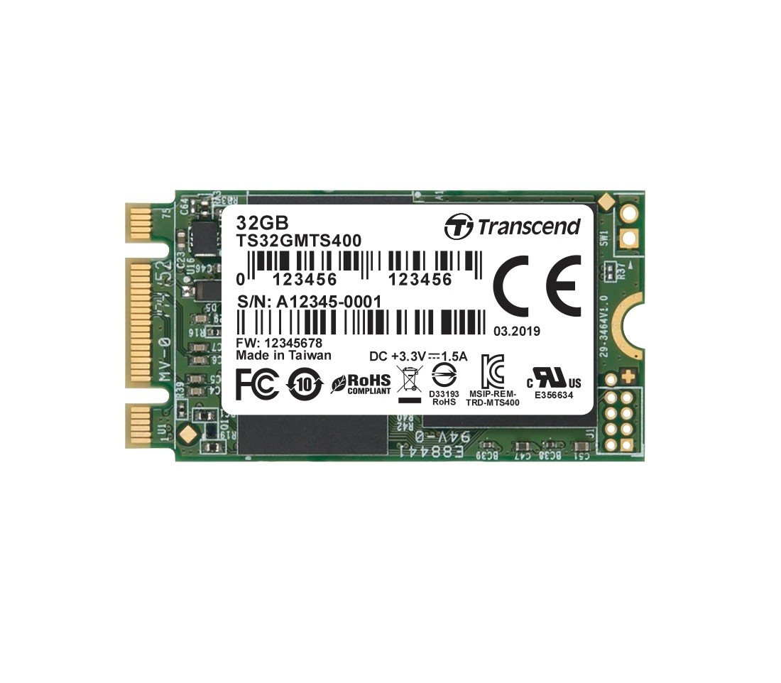 SSD-накопичувач Transcend MTS400 32ГБ M.2 2242 MLC (TS32GMTS400)