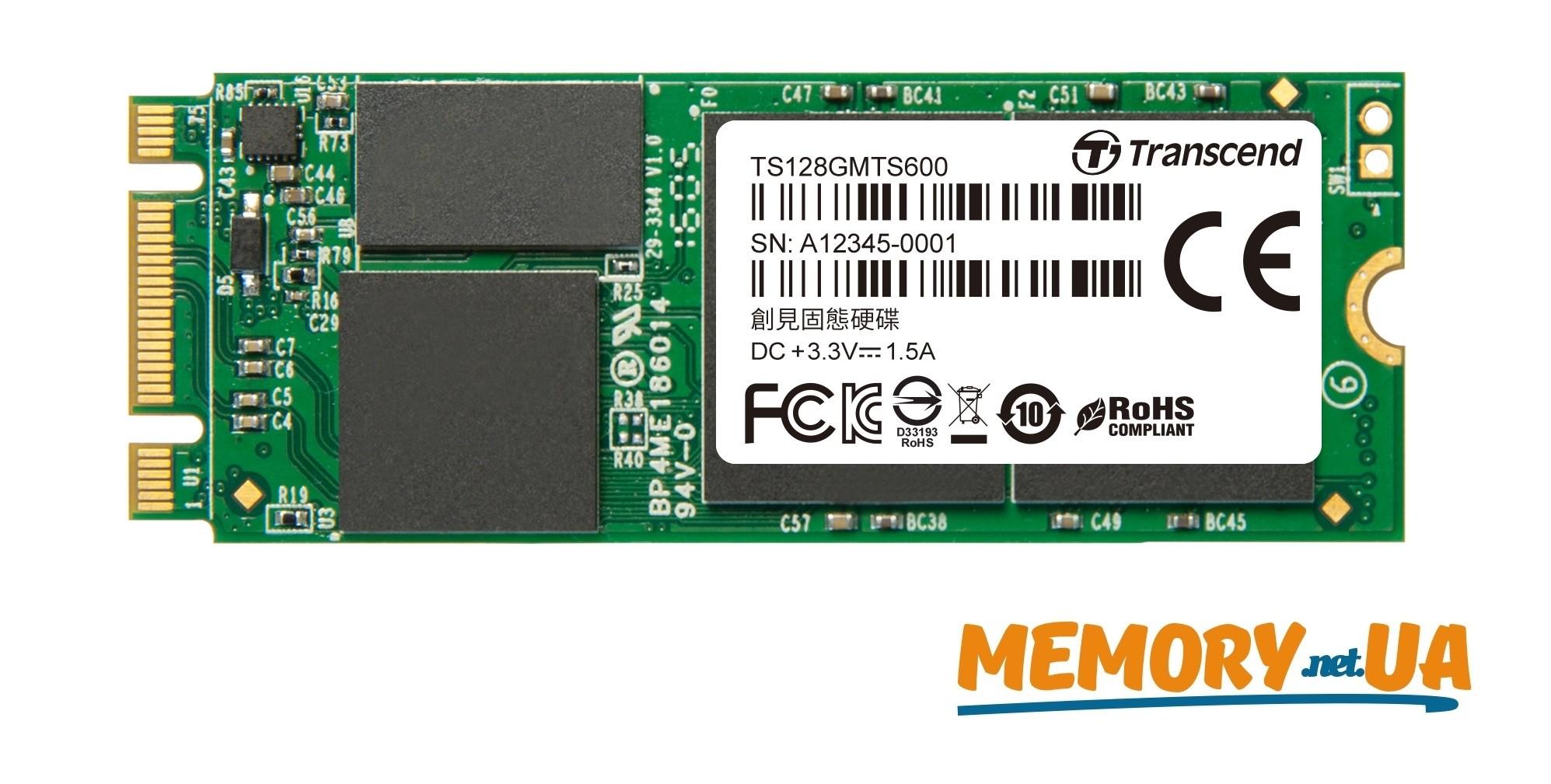 Transcend 128GB SSD M.2 2260 MTS600 MLC